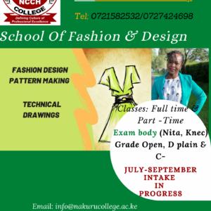Nakuru college -school of fashion n design